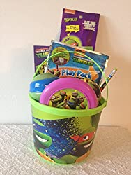 Teenage Mutant Ninja Turtles Bucket of Fun Set Perfect for Easter Basket, Birthday Gift, or any other Special Occassion