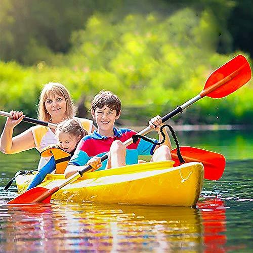 YUNNLEZT Kayak Paddle Leash 2 Pack Black Kayak Leash Lanyard Stretchable Coiled Lanyard for Fishing Rod, SUP Paddles, Paddle Board, Kayaking, Canoe