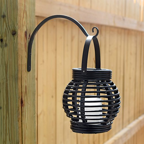 GrayBunny GB-6838B Hand Forged Curved Hook, 8.5 Inch, Black, 2-Pack, For Bird Feeders, Planters, Lanterns, Wind Chimes, As Wall Brackets and More! by GrayBunny (Image #3)