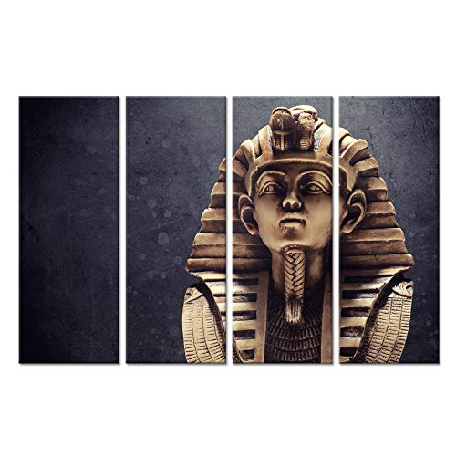 (Hello Artwork Canvas Wall Art Print Modern Portrait Ancient Egyptian Pharaoh King Vintage Ancient Egypt The Figure Picture Painting Print On Canvas Ready to Hang (12