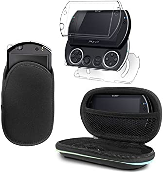 G-HUB® - Delux Bundle de Accesorios para Sony PSP GO (Incluye: 1x Transparente Crystal Case