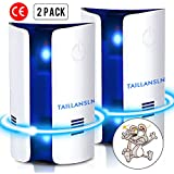 Ultrasonic Pest Repeller - 2 Pack 2018 New Variable Frequency Pest Control Ultrasonic Repellent Plug in Home Indoor Electronic Pest Reject for Roaches Mice Spider Ant Rodent Bedbugs, Child Safe