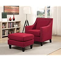 Picket House Emery Accent Chair with Ottoman