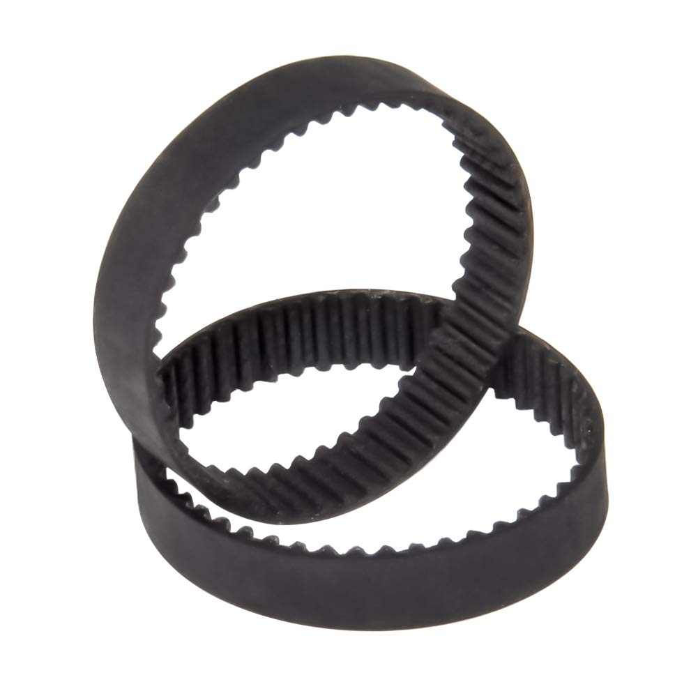 2pcs HTD 2GT Timing Belt Round Rubber GT2 Pitch 2mm Width 6mm Length 102~294mm