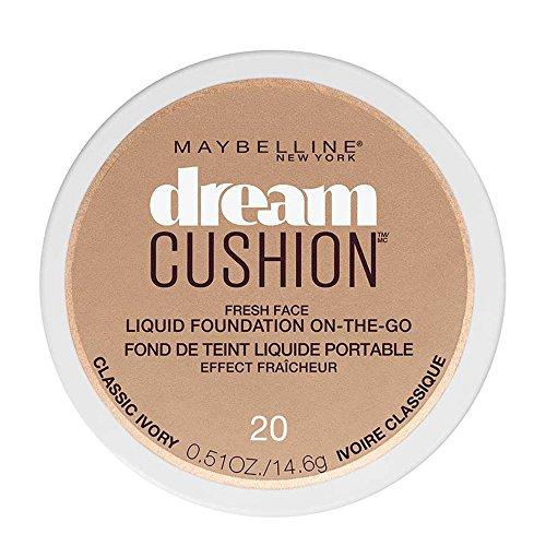Maybelline Dream Cushion Fresh Face Liquid Foundation, Classic Ivory, 0.51 oz. (Ivory Face Foundation)