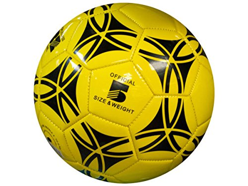 bulk buys Size 5 Glossy Patterned Soccer Ball - Pack of 6