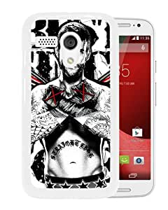 Unique And Durable Custom Designed Case For Motorola Moto G With Wwe Superstars Collection Wwe 2k15 Cm Punk 02 White Phone Case