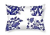 TonyLegner Chinese Style Blue and White Porcelain Pillow Shams 20...