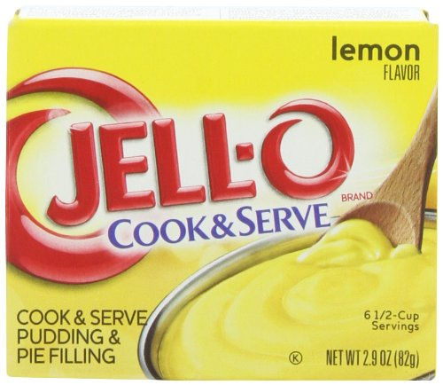 - JELL-O Lemon Pudding & Pie Filling (2.9 oz Boxes, Pack of 24)