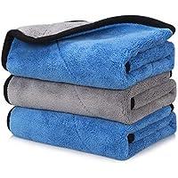 Happy Road 3-Pack Premium Professional Soft Microfiber Car Drying Towel