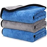 OAN All Purpose Microfiber Cloth for Cleaning, Dusting, Detailing & Polishing (All Vehicles, Office, Kitchen, Home) | 800 GSM | 45x45 cm (Pack of 3) (Random Color)
