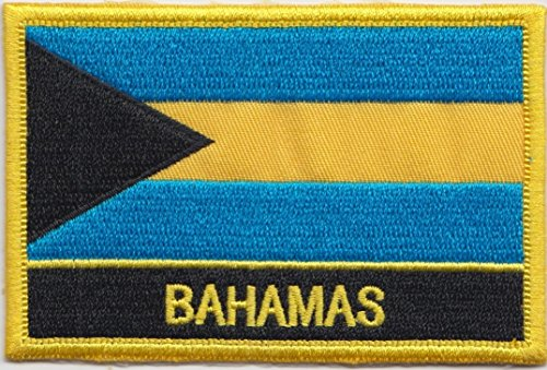 Bahamas Country Flag Embroidered Blazer Badge Patch (Country Bahamas Flag)