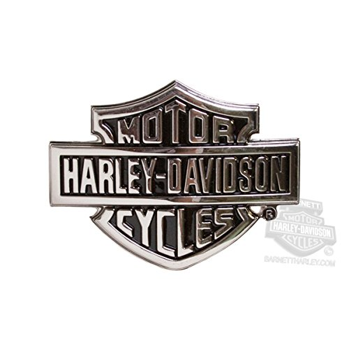 Shield Logo Belt Buckle - Harley-Davidson Mens Chrome Bar & Shield Logo Silver Buckle