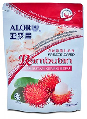MUST BUY ! 30 Pack DXN Alor Freeze Dried RAMBUTAN Preserved With Original Characteristics ( 50 Per Pack ) by DXN