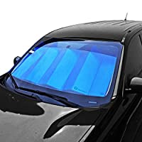 "Zone Tech Blue/Silver Reversible Car Sunshade 24"" x 58"""