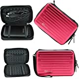 """Yuanhong Anti-shock Aluminium Carry Travel Protecitve Storage Case Bag for 2.5"""" Inch Portable External Hard Drive HDD (Rose-Red)¡"""