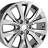 20x8.5 Wheel Fits Ford Trucks - F-150 Style PVD Chrome Rim, Hollander 10003