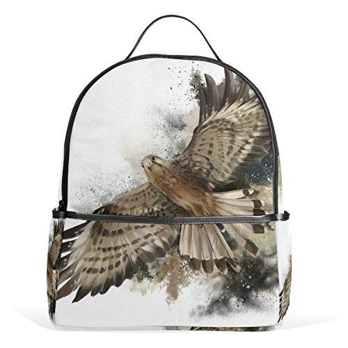 Falcon Tackle (Top Carpenter Falcon In Flight School Backpack Daypack Rucksack Shoulder Bag for Student 12.6x5x14.8in)