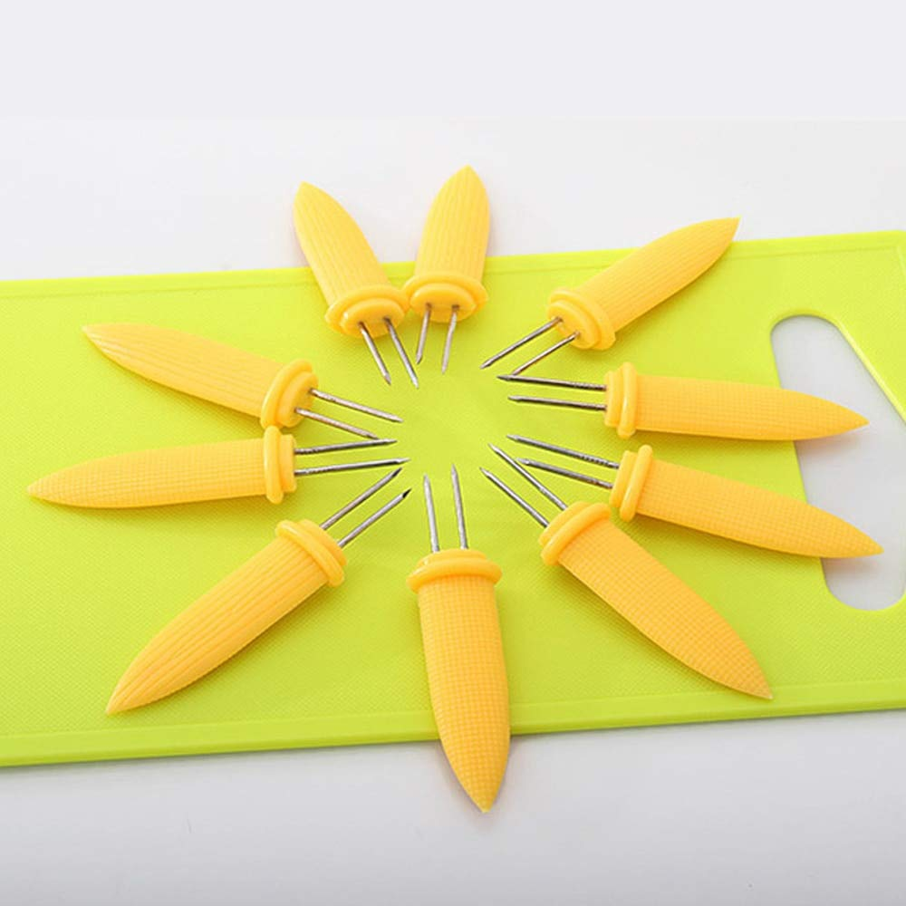 Shoppy Star - 12 Pinchos de Acero Inoxidable con Forma de maí z en el cobo para Barbacoa Generic