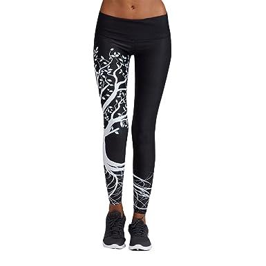 7f73309e8f0 Vêtements LILICAT Femmes Arbre élégant Chic Cool Imprimé Sports Yoga  Entraînement Gym Fitness Exercice Pantalon D