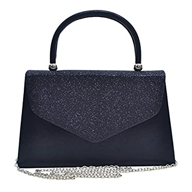 Dasein Women's Top Handle Clutch Evening Bag w/ Frosted Glittering ...