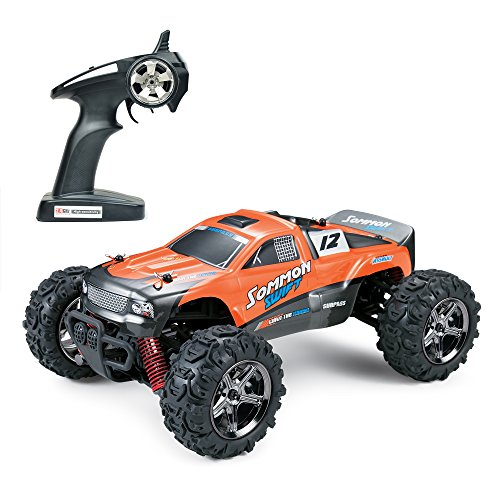 QDG TOYS RC CAR Desert Buggy Warhammer 4WD High Speed 30MPH Scale 50M Remote Control 30 Mins Playing Time 2.4GHz RTR Electric Vehicle Buggy Truck 1:24 (Orange)