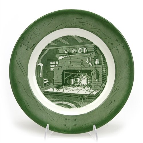 (Colonial Homestead/Green by Royal, China Dinner Plate)