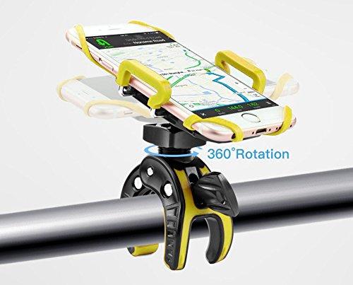 Supporto per Bicicletta Supporto Manubrio per Cellulare Smartphone Regolabile per iPhone 7//6//6S//6/Plus Samsung Galaxy S8//S7//S6//s5//S4//S3