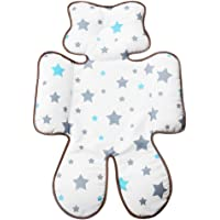 Infant Head Body Support Pillow, KAKIBLIN Baby Seat Pad for Car Seat Stroller (Gray Star)