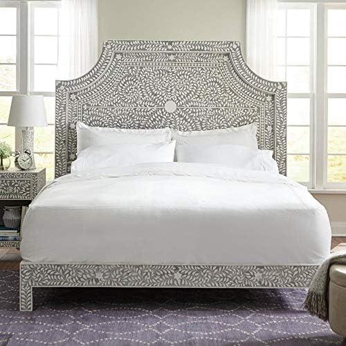 Amazon Com Home Decorators Collection Dhara Bone Pantone Grey King Bed Kitchen Dining
