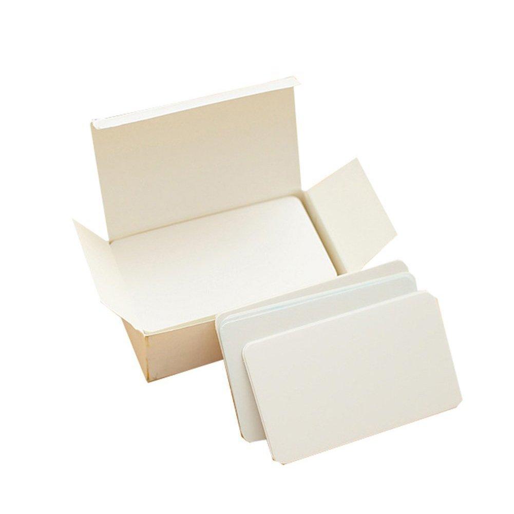 Kraft/blanco en blanco tarjetas 100pcs DIY marcadores etiquetas postales tarjetas de visita tarjetas de Navidad tarjetas de mensaje tarjetas de Nota para ...