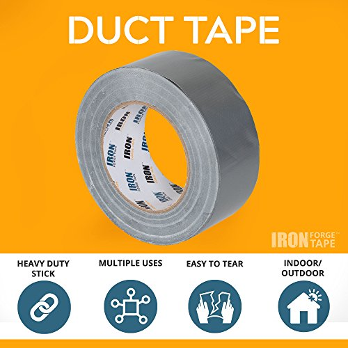 Duct Tape Roll 3 Pack for HVAC, Air Ducts & More - 1.88 Inch x 55 Yards by Iron Forge Tools (Image #1)
