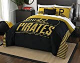 MLB Pittsburgh Pirates Grand Slam Two Sham Set, Black, Full/Queen Size