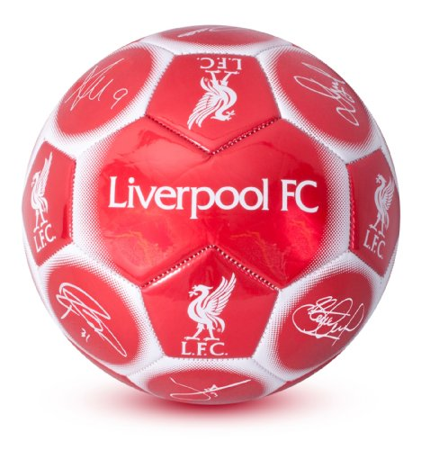 Official Liverpool FC Signature Football - A Great Gift / Present For Men, Boys, Sons, Husbands, Dads, Boyfriends For Christmas, Birthdays, Fathers Day, Valentines Day, Anniversaries Or Just As A Treat For Any Avid Football Fan