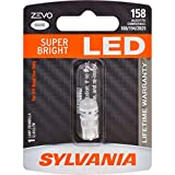 SYLVANIA - 158 T10 W5W ZEVO LED White Bulb - Bright White LED Bulb, Ideal for Interior Lighiting - Map, Dome, Trunk, Cargo and License Plate (Contains 1 Bulb)