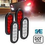 led stop lights for trucks - 2 RED + 2 WHITE 6