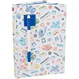 """LEGO Stationary Journal with Brick Plate and Gel Pen - Multicored Cover with Blue Brick and Blue Pen - 96 Wide Ruled Pages - 6"""" x 8 1/4"""""""