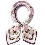 Women Girls 100% Mulberry Silk Multicoloured Scarf Neckerchief Bandana