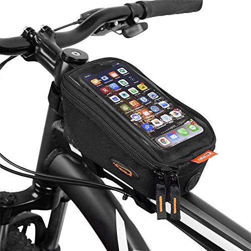 Review Ibera Bicycle Top Tube Phone Bag, Water-resistant Touch Screen Bike Handlebar front phone bag...