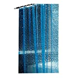 HONGLIAN High-Grade EVA Transparent Cobblestone Environmental Protection Shower Curtain Waterproof Moisture-Proof Bathroom Partition Curtain Breathable Strong 180 180cm with Shower Curtain Ring