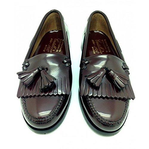 Castellano® 1920 Madrid - Mocasín con flecos y borlas en florentick sirach para mujer: Amazon.es: Zapatos y complementos