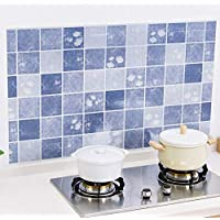Kitchen Waterproof Oil Proof Sticker Anti-Oil Wrap Tiles Wall Stickers Bathroom Self-adhesive Toilet Mosaic Wall Paper-x