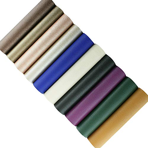 Faux Leather Sheets for Leathercraft Accesories with Cotton Fabric Back- 8