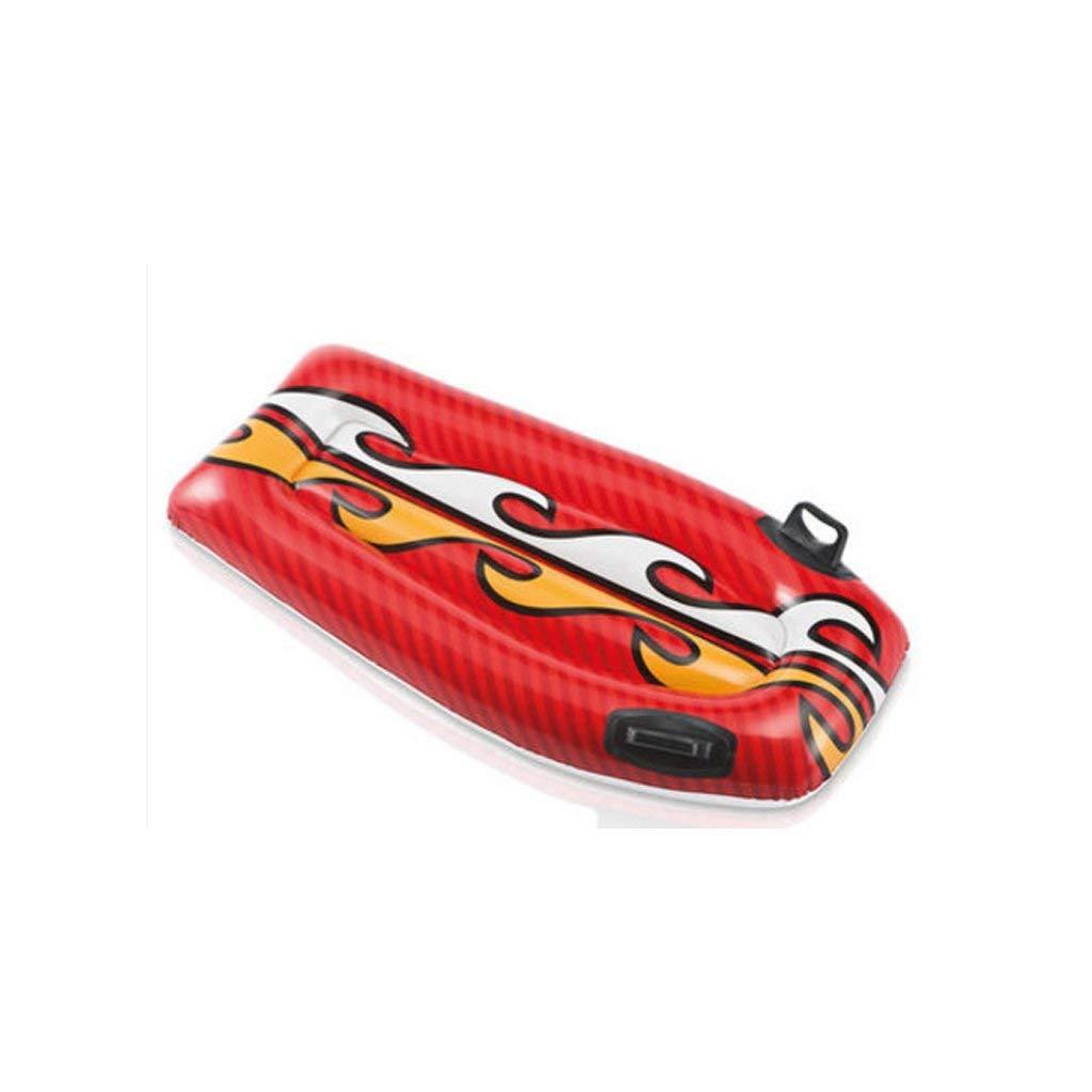 XHCP Aufblasbare Schwimmring Erwachsene Verdickung Wasser Rafting Surf Wasser Ausrüstung Umweltschutz Material Stabiler 112  62 cm Knight rot
