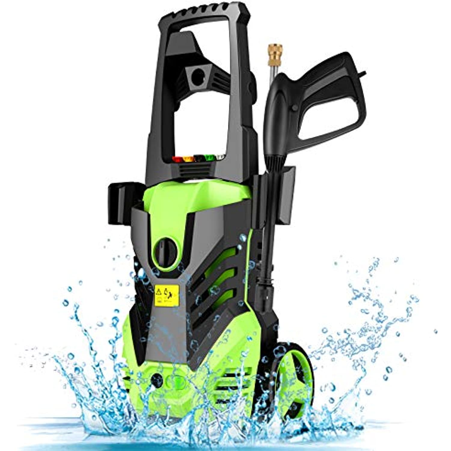 Homdox Electric High Pressure Washer, permissible pressure 2950PSI 1.7GPM Power Pressure Washer Machine 1800W with 5 Quick-Connect Spray Tips, Detergent Tank Perfect for Car, Home, Garden Cleaning