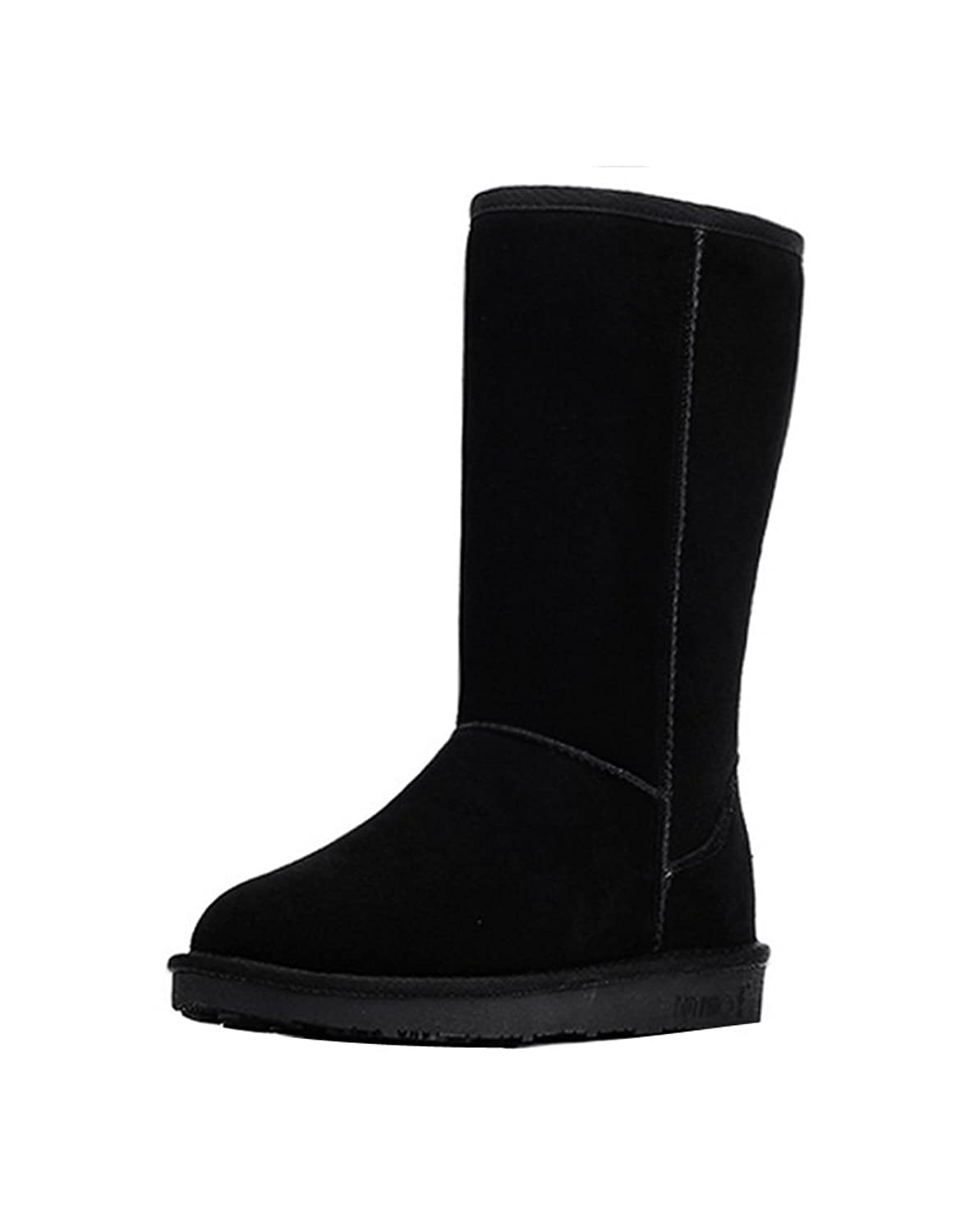 Ashlen Womens Classic Cold Weather Tall Snow Boot Faux Leather Fluffy Lined Boot