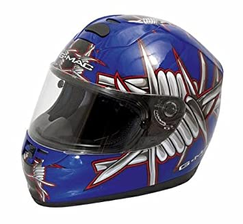 Casco Fibra Moto Integral Helmet Yamaha Honda Suzuki Ducati Kawasaki Azul XL