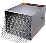 New Leaf High Capacity 10 Tray 1200W Fruit Vegetable Sausage Jerky Food Dehydrator Dryer