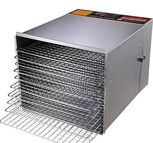 New Leaf High Capacity 10 Tray 1200W Fruit Vegetable Sausage Jerky Food Dehydrator Dryer ()