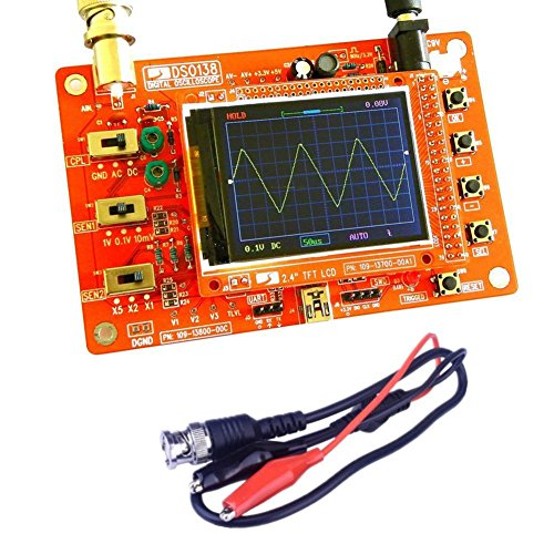 Northbear DSO138 2.4'' TFT Digital Oscilloscope Kit DIY Parts Electronic Learning Set+ Probe (Welded)